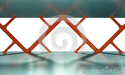 Iron beams 3D rendering