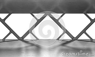 Iron beams monochrome