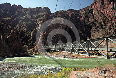 Iron Bright Angel bridge over Colorado river