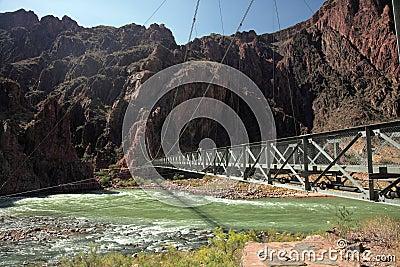 Iron Bright Angel bridge over Colorado river