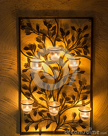 Iron Candle holder on wall