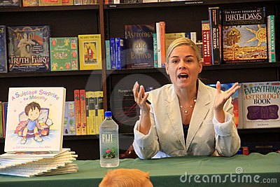 Iron Chef Cat Cora Book Signing Editorial Stock Photo
