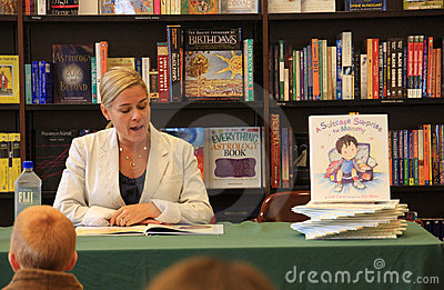 Iron Chef Cat Cora Book Signing Editorial Image