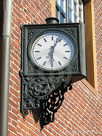 Iron clock