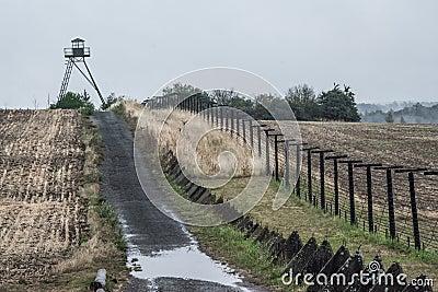 Iron Curtain In Cizov Stock Photo - Image: 62183524