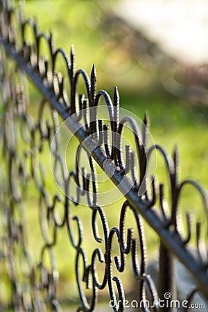Free Iron Fence Royalty Free Stock Images - 61314309
