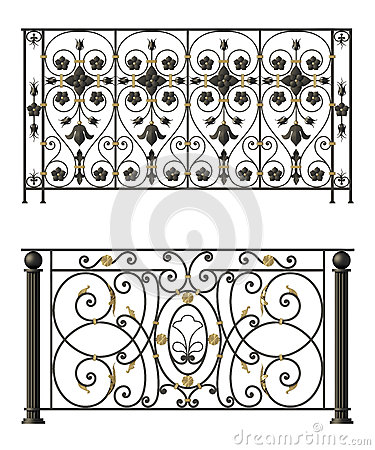 Free Iron Fences With Flowers And Leaves Stock Photo - 29967860