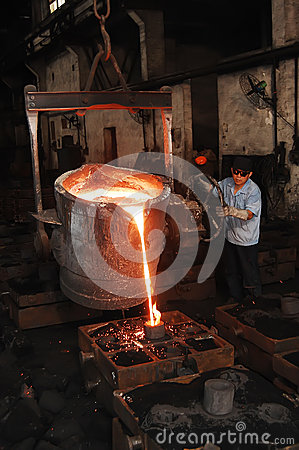 Iron foundry Editorial Photography