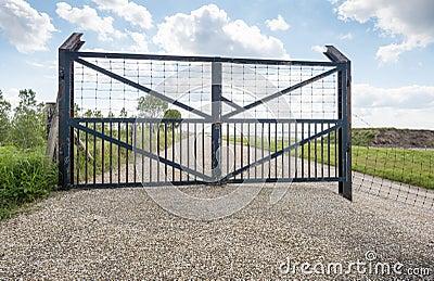 Iron Gate On A Dutch Stock Photo Image 40570786