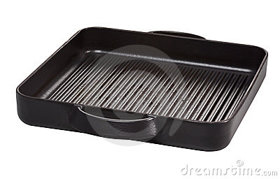 Iron grill with clipping path