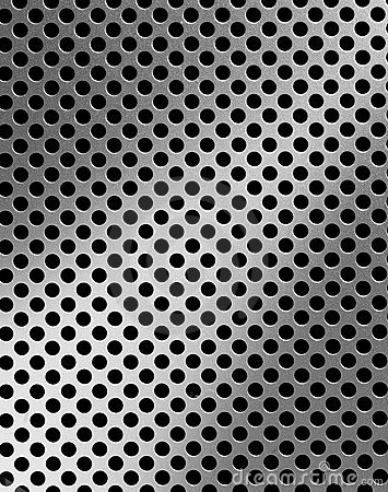 Iron grille surface