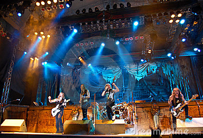 Iron Maiden In Concert Editorial Image