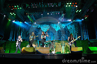 Iron Maiden In Concert Editorial Photography