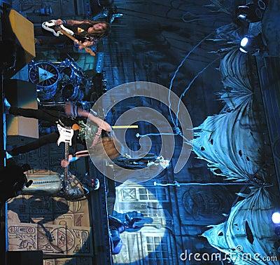 Iron Maiden on tour -  Editorial Photo