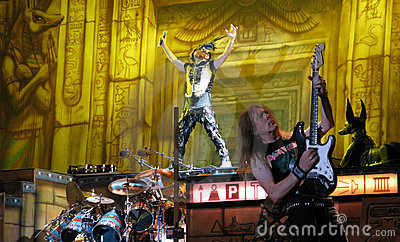 Iron Maiden on tour -  Editorial Stock Photo
