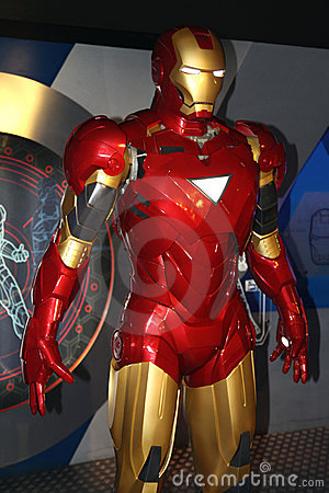 Iron Man at Madame Tussaud s Editorial Image