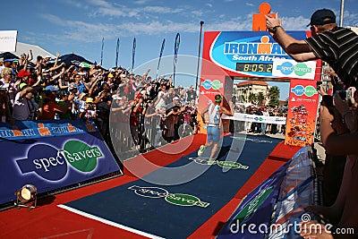 Iron man winner Editorial Image