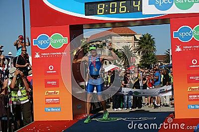 Iron man winner Editorial Stock Photo