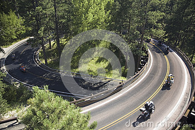 Iron Mountain Road, Black Hill Editorial Photo