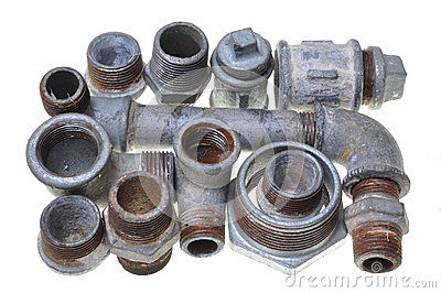 Iron pipe fittings for plumbing