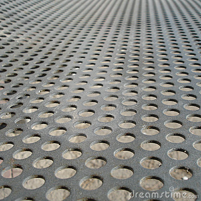 Free Iron Plate With Holes Stock Image - 1996241