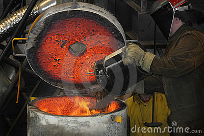 Iron Pour - Loading the Furnace