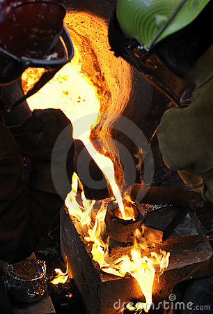 Iron Pour - Mold on Fire