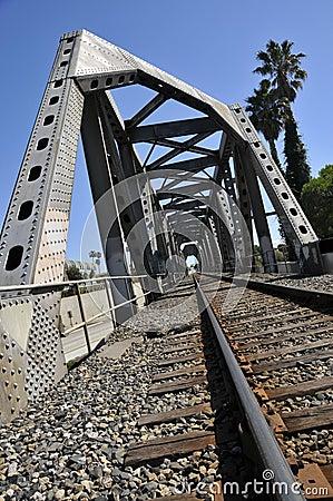 Free Iron Railroad Bridge Royalty Free Stock Photos - 8570608