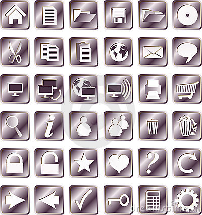 Iron squared icons