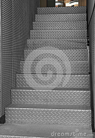 Free Iron Staircase Royalty Free Stock Images - 25032329