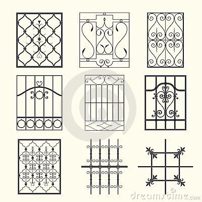 Iron Window Grills Stock Images - Image: 24263584