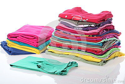 Ironed and arranged clothes