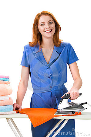 Free Ironing Towels Royalty Free Stock Photos - 12170138