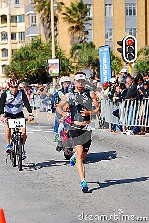 Ironman 2012 triathlete running Editorial Photo