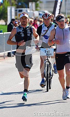 Ironman 2012 triathlete running Editorial Photography