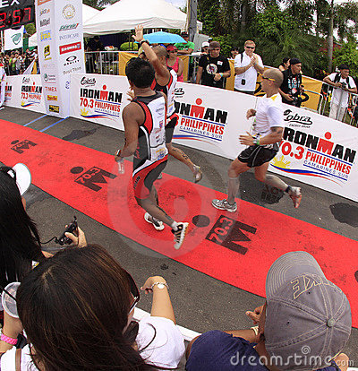 Ironman Philippines marathon run race finish Editorial Photography