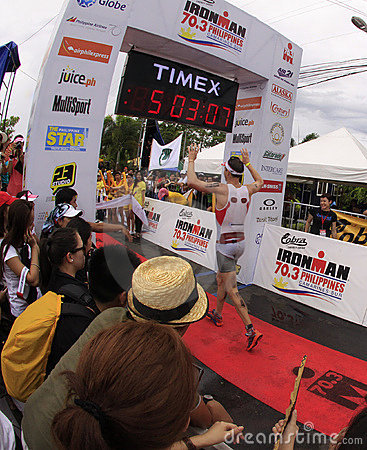 Ironman Philippines marathon run race finish Editorial Image