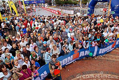 Ironman spectators Editorial Stock Photo