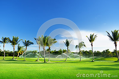 Irrigation golf course