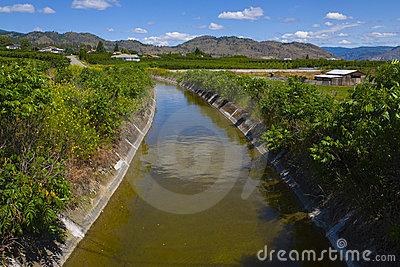 Irrigation for the orchards. Osoyoos, B.C.