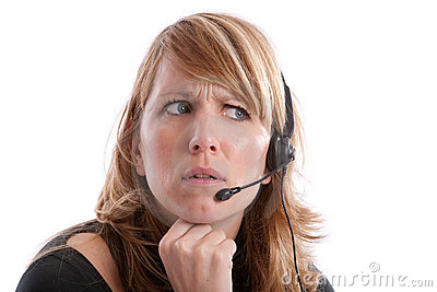 Irritated receptionist