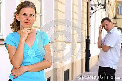 Irritated woman