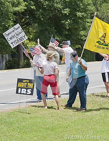 IRS Protest Editorial Stock Photo