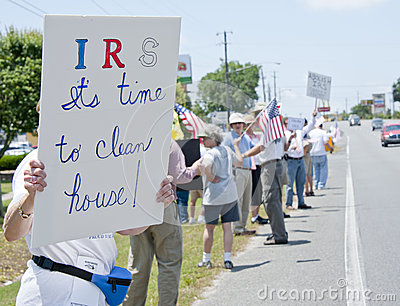IRS Protest Editorial Image