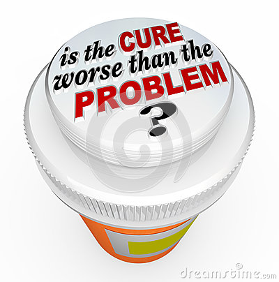 Free Is The Cure Worse Than The Problem Medicine Bottle Cap Royalty Free Stock Photos - 31864128
