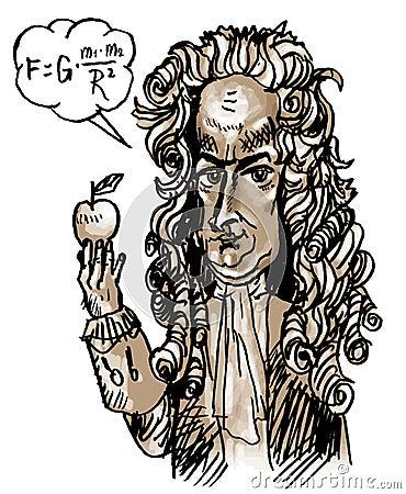 Isaac Newton (vector)