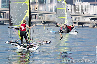 ISAF Miami - Between Races Editorial Stock Image