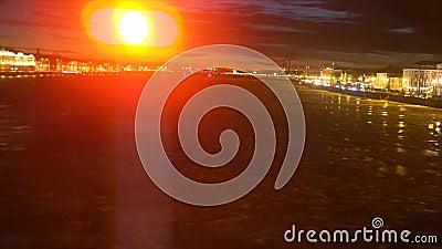 Isdriva på floden Neva stock video