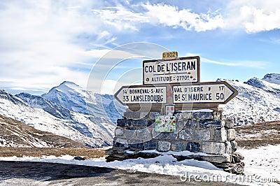 Iseran pass in Savoie