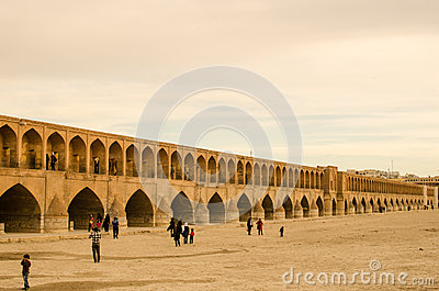 Isfahan Bridge Editorial Stock Photo